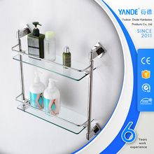 Wall mounted glass shower corner shampoo rack shelf stainless steel bathroom corner shelf