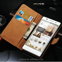 PU Leather Case for Huawei Ascend P7 Phone Bag With Wallet Style Stand Card Slots Holders Coque