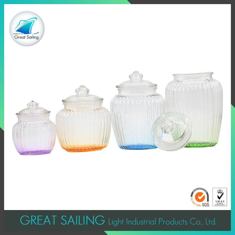 round hermetic glass storage jars