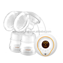 Best selling double bottle electric breast pump