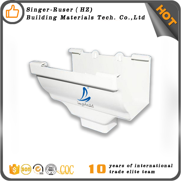 Supply PVC Drop Outlet and PVC Rain Gutter,Rain Gutter Fittings,SGB PVC Elbow