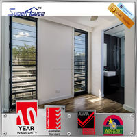Australia AS2047 Standard commercial system louver windows inside window shutters