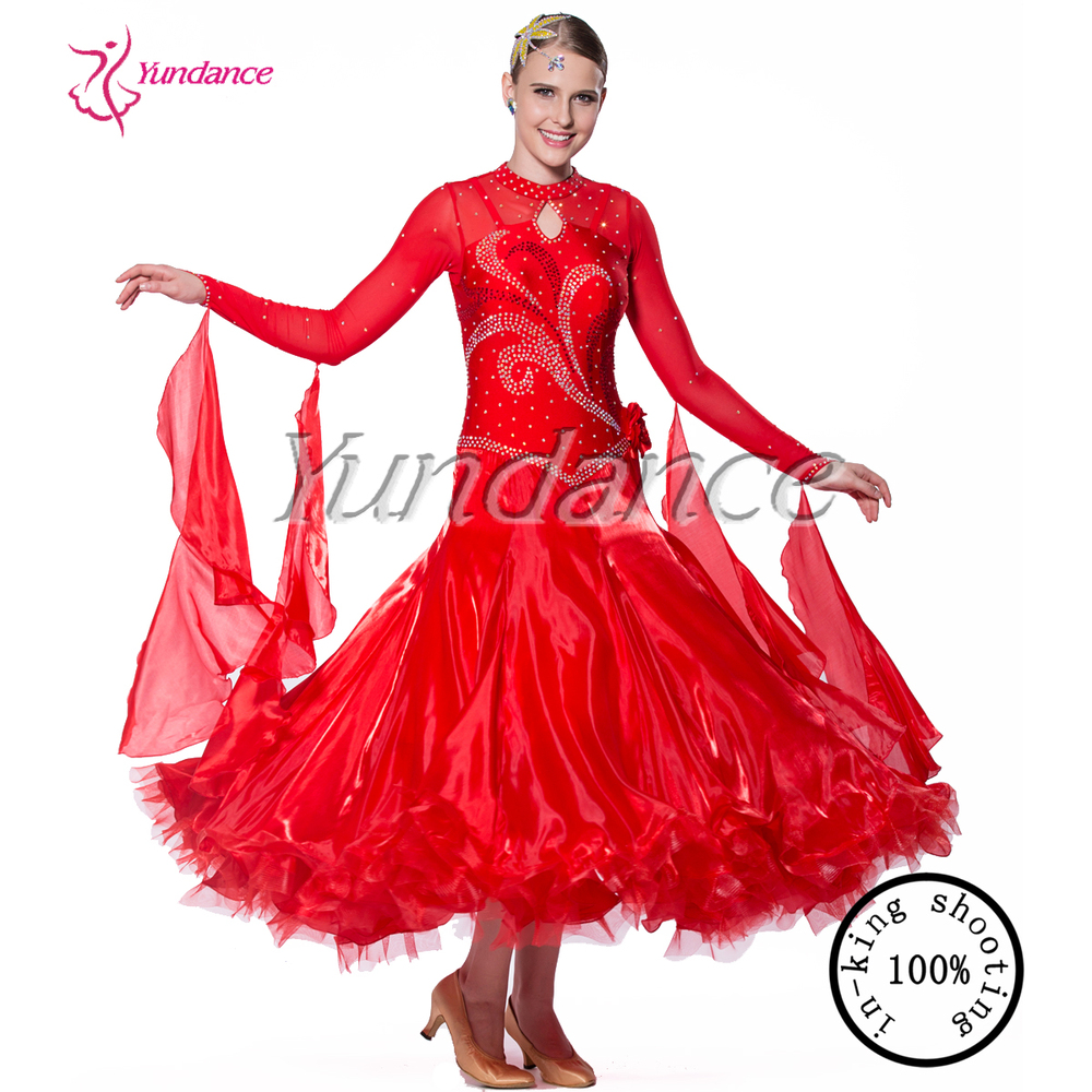 2016 New Design Latest Fancy Red Lyrical Dance Dresses B-11668