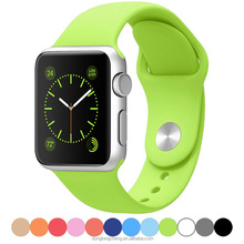 2016 Fashion watch strap for apple watch band silicon gel
