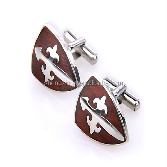 Stainless Steel Cufflink Blanks Sword Cuff Link Antique Copper Cufflinks