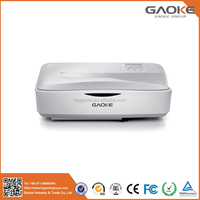 Gaoke cheap portable HDMI 3D function ultra short throw laser projector