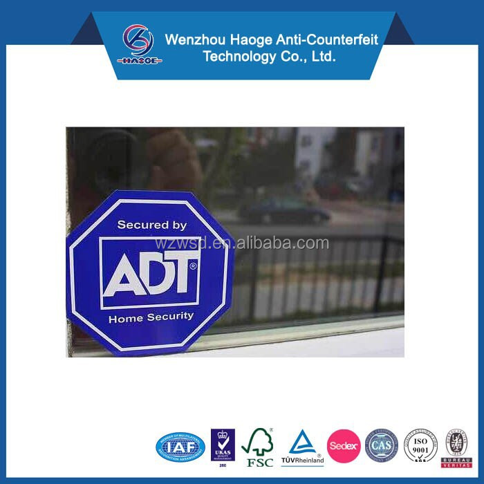 Decoration for windows in houses ADT security sticker