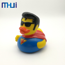 New product small rubber floating pvc soft noise yellow duck baby bath toy with high quality