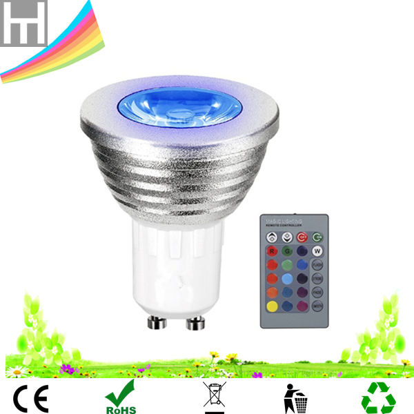 24 key remote control 16 Colors Changing 3W dimmable RGB GU5.3 MR16 E27 E14 GU10 LED bulb for Home Decoration Bar Party