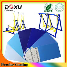 Sports equipment blue powder coating