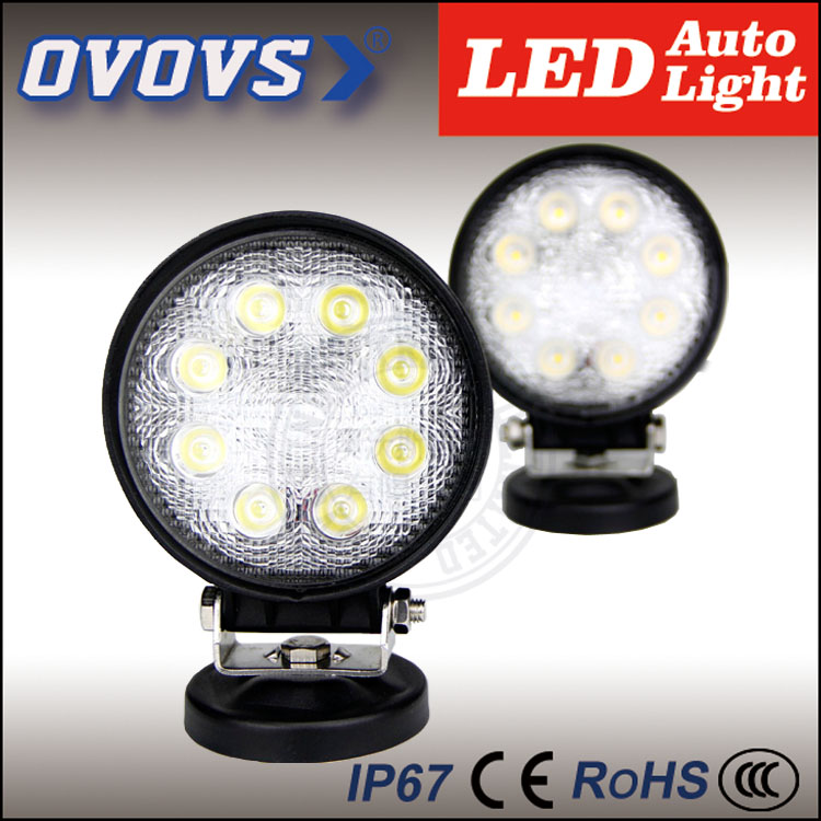 Factory prices Auto part 24w cars led ofroad working light 12v Waterproof IP67 for trucks