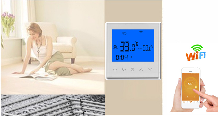 Excellent quality underfloor heating system touch screen smart digital room wifi thermostat