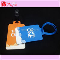 Custom made hot selling pvc material irregular shaped silicon rubber bag/luggage tag for travel
