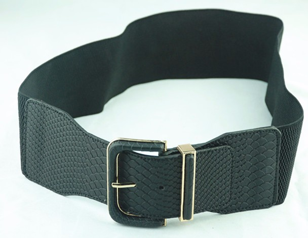 summer dress widen design elastic waist band belt