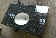 High polished blue Pearl Granite Countertops Bathroom Vanity Top