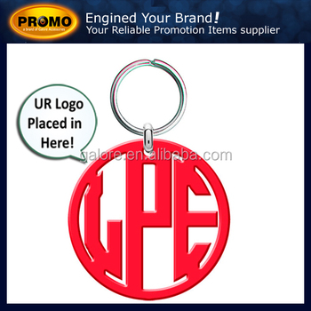 fashion high quality blank acrylic cut out promotional key chains