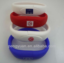 Top gift 4GB promotional usb flash bracelet with logo (PY-U-079)