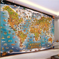 3d epoxywall paper scratch world map wall papers home decor wallpaper