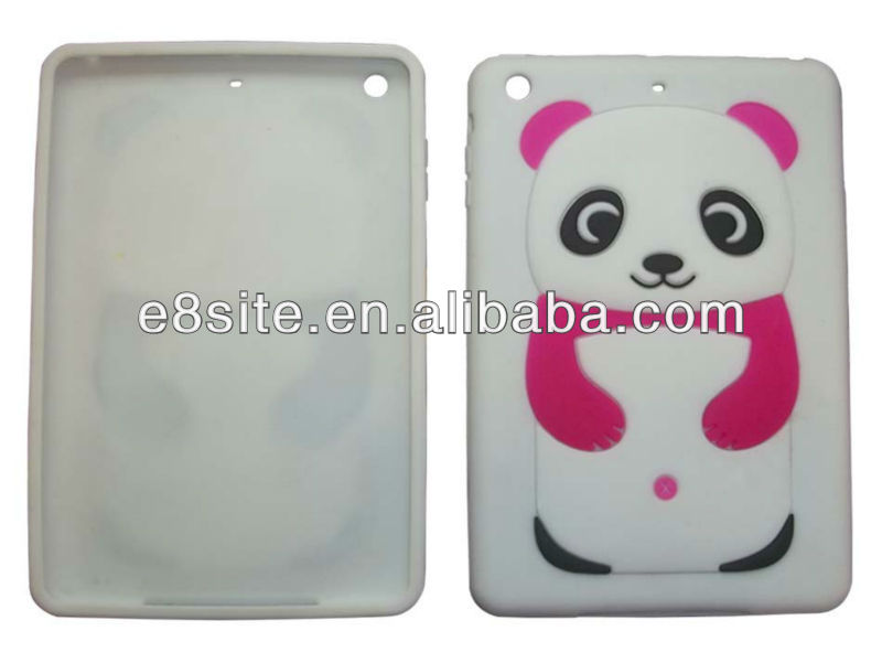 For iPad Mini 3D Panda Silicone Cover Case