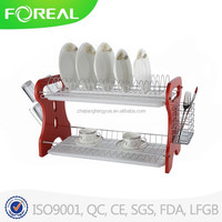 2 Layer Iron Wire Dish Drainer Display Rack