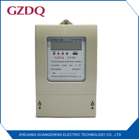 Three phase electronic kwh meter with pulse output and LCD display electrical meter