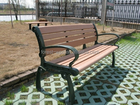 plastic outdoor long wood benches wood park bench modern park chair