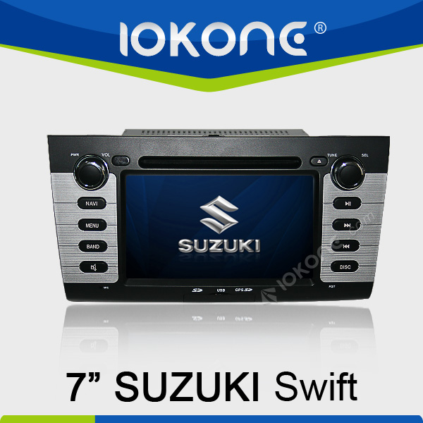 "factory 7"" HD Touch screen best price for suzuki swift car radio with TMC, camera, mic, dvb-t"