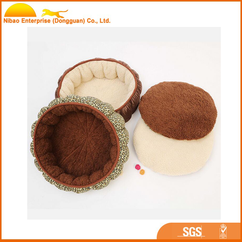 Luxury sided use small pet accessories bed for dog cat