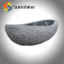 Dark Grey G654 Granite Stone Bathtub with Split Outside