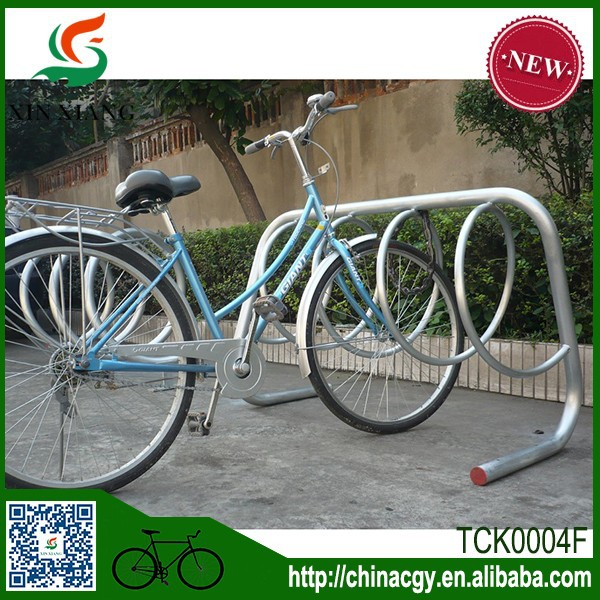 Custom Outdoor Galvanized Stainless Steel Bike Floor Rack