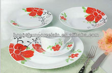 fine porcelain 20pcs dinner set with decal
