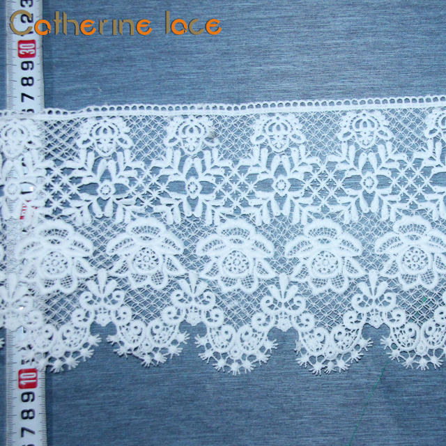 Catherine Newest Design Popular Chemical Mesh Cotton Lace Embroidery Fabric
