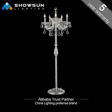 modern crystal floor lamp for decoration