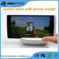 usb portable mobile charger power bank with phone holder