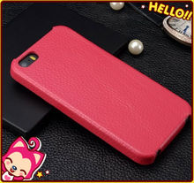 Wholesale cow leather case for iphone 5 open up and down