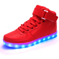 Stylish man pu casual shoes with led light