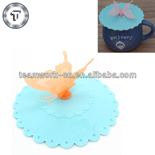 Healthy life butterfly silicone lids for cups