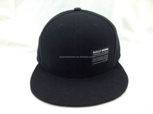 Front label seam fitted flat bill baseball cap printed underbrim acrylic baseball cap