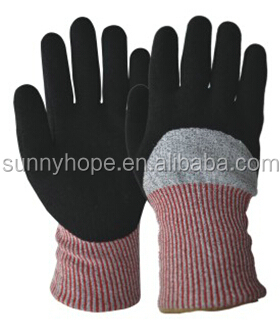 HPPE and Acrylic double liner Cut resistant gloves