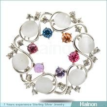 JDS147-62 jewelry factory fashion platinum brooch wholesale
