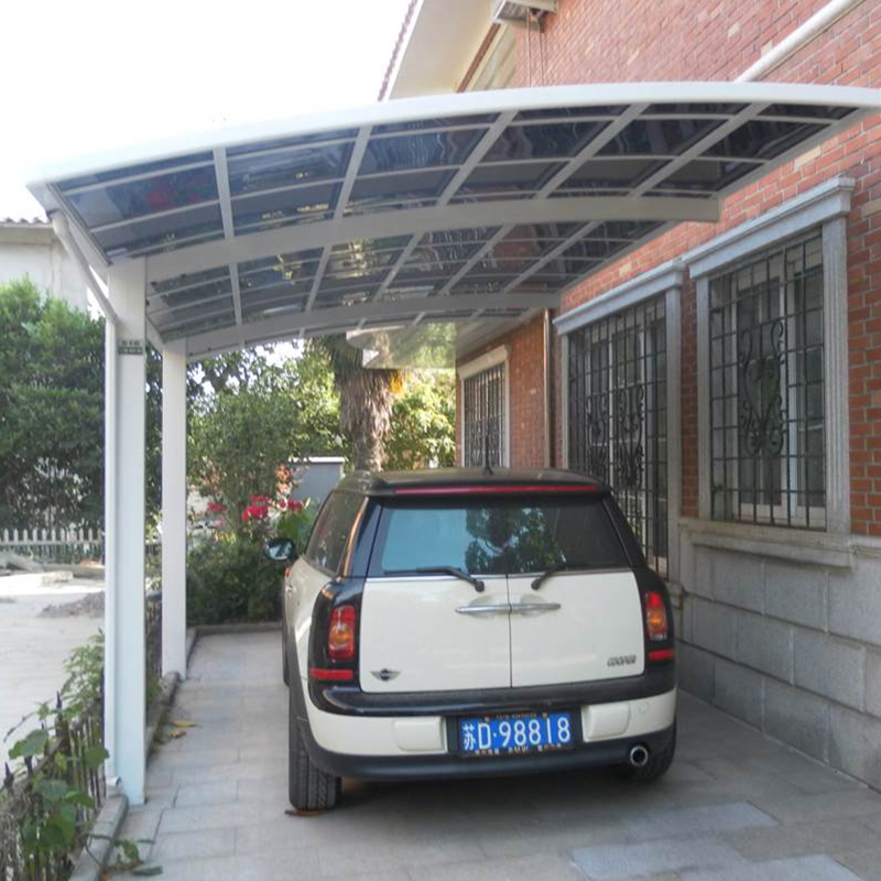 Durable outdoor attached wall aluminum metal carport&garage