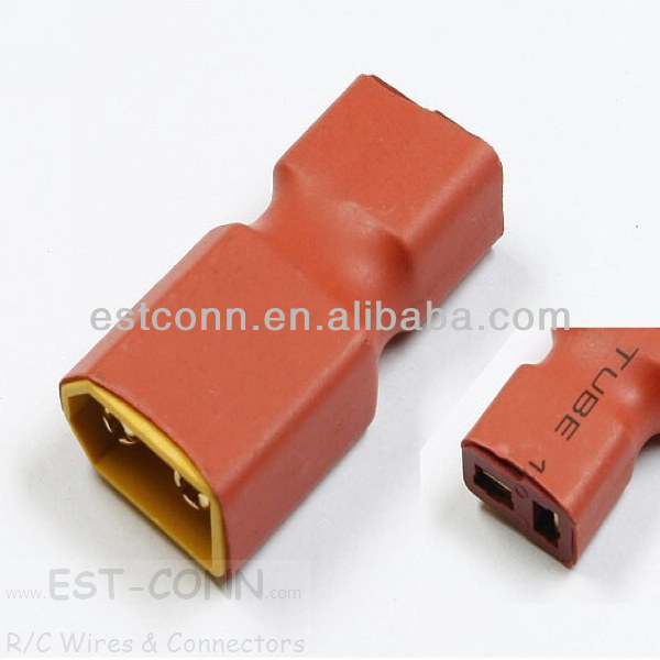 Female Deans-T to Male XT60 connector adapter For RC Lipo Battery