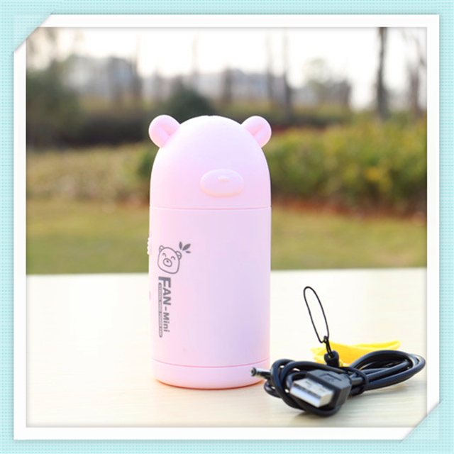 Mini Portable 2017 Battery Powered USB Rechargable Fan With Sling Good For Kids Gift