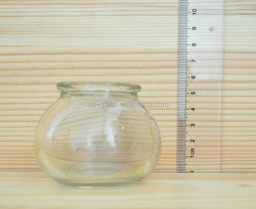 High quality 85ml Small round belly shaped glass spice jar with food special plastic cover
