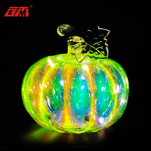 Handmade glass white craft pumpkins for Hallpween decorations or gifts