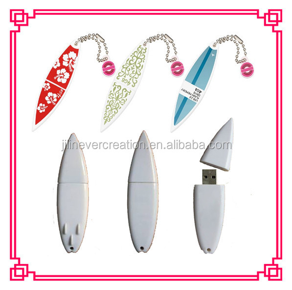 special usb flash drive with surfboard design custome logo