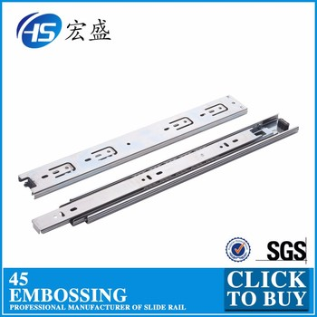 400mm heavy duty drawer slide telescopic rail 16''
