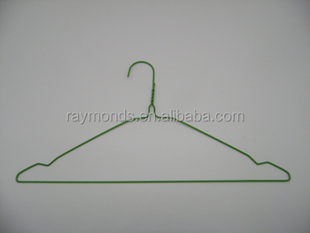 Plastic powder-coated wire hangers for simply laundry