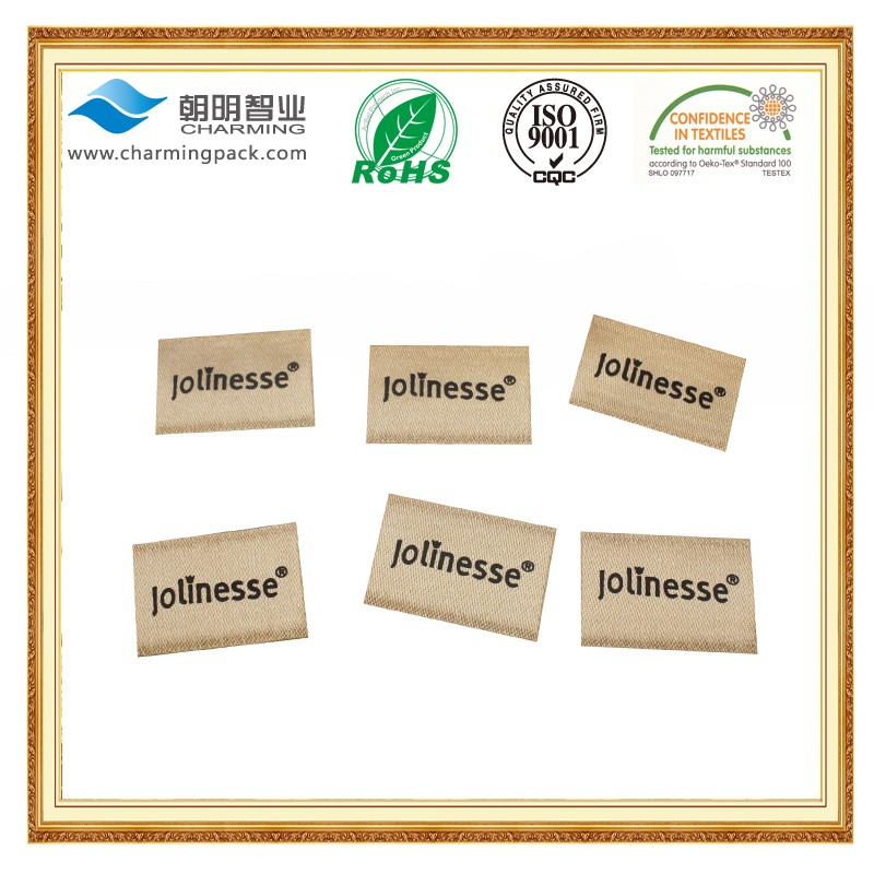 Low price customized woven labels garment label machine for clothes labels wholesale