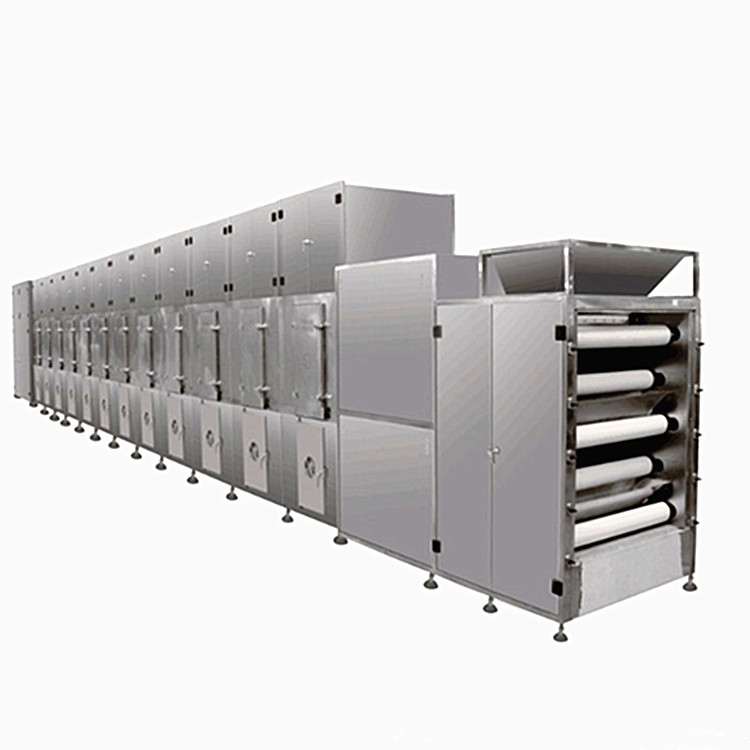 <strong>Industrial</strong> Continuous Dryer Onion Ginger Mushroom Mesh Belt Drying Machine